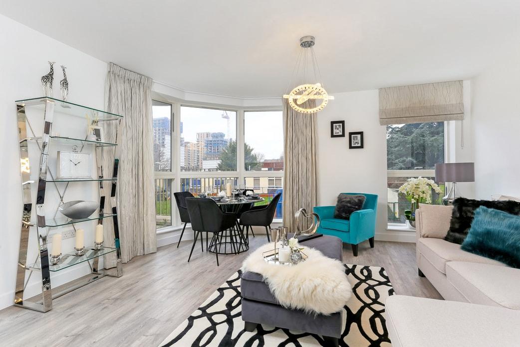 Photo of the lounge in Shared Ownership homes at Savills' Kidbrooke Village