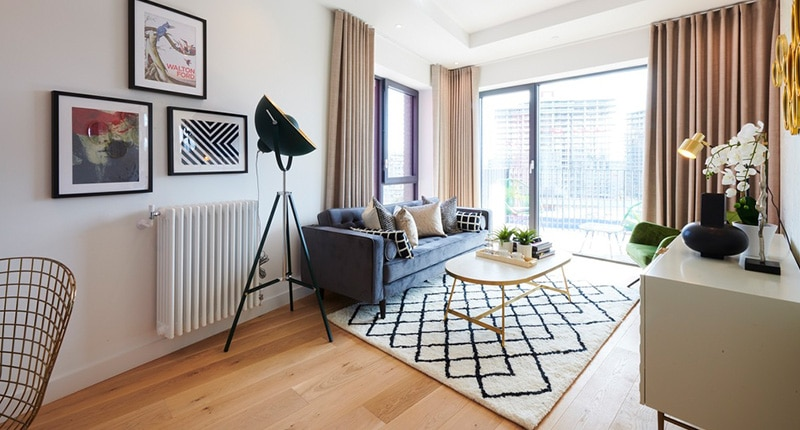 Photo of the living room in Shared Ownership homes at Echo