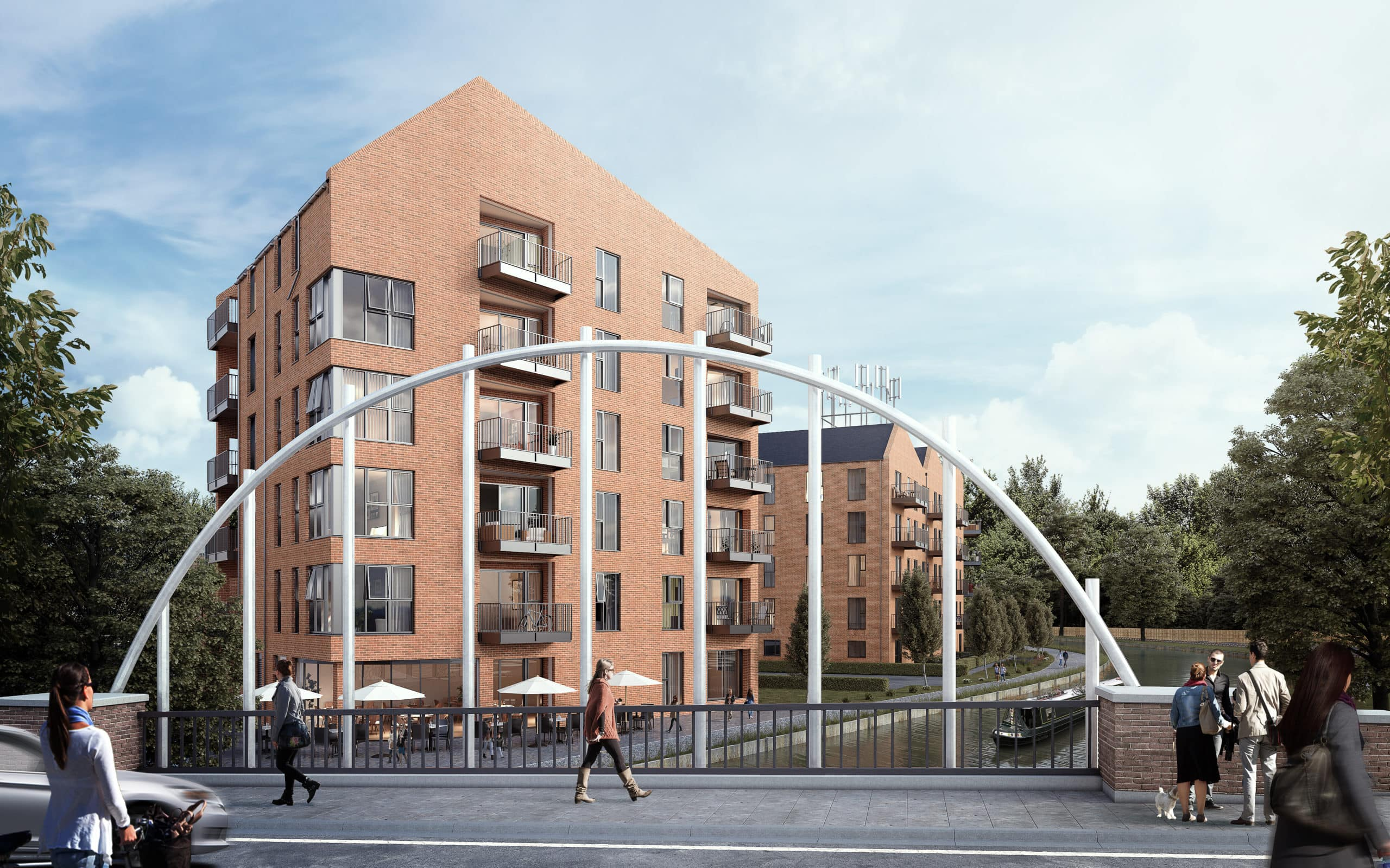 External CGI of Be West's Waterside Heights - Shared Ownership homes available on Share to Buy