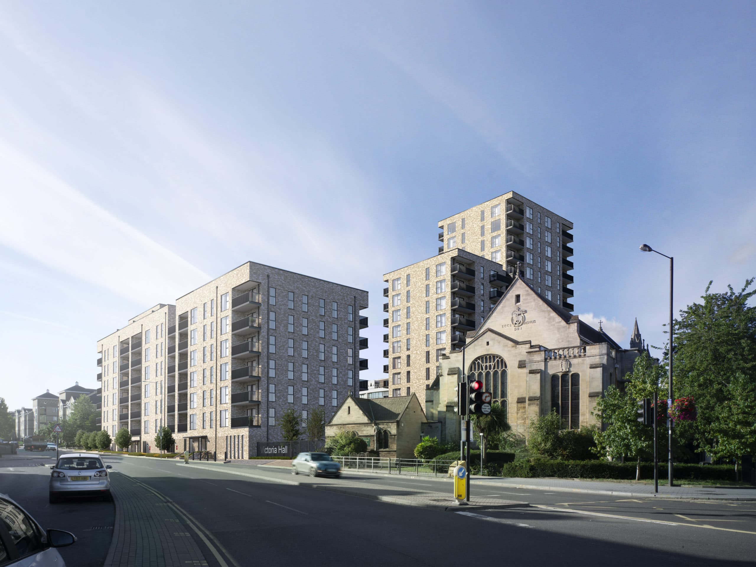 External CGI of Origin Housing's Harrow One - Shared Ownership homes available on Share to Buy