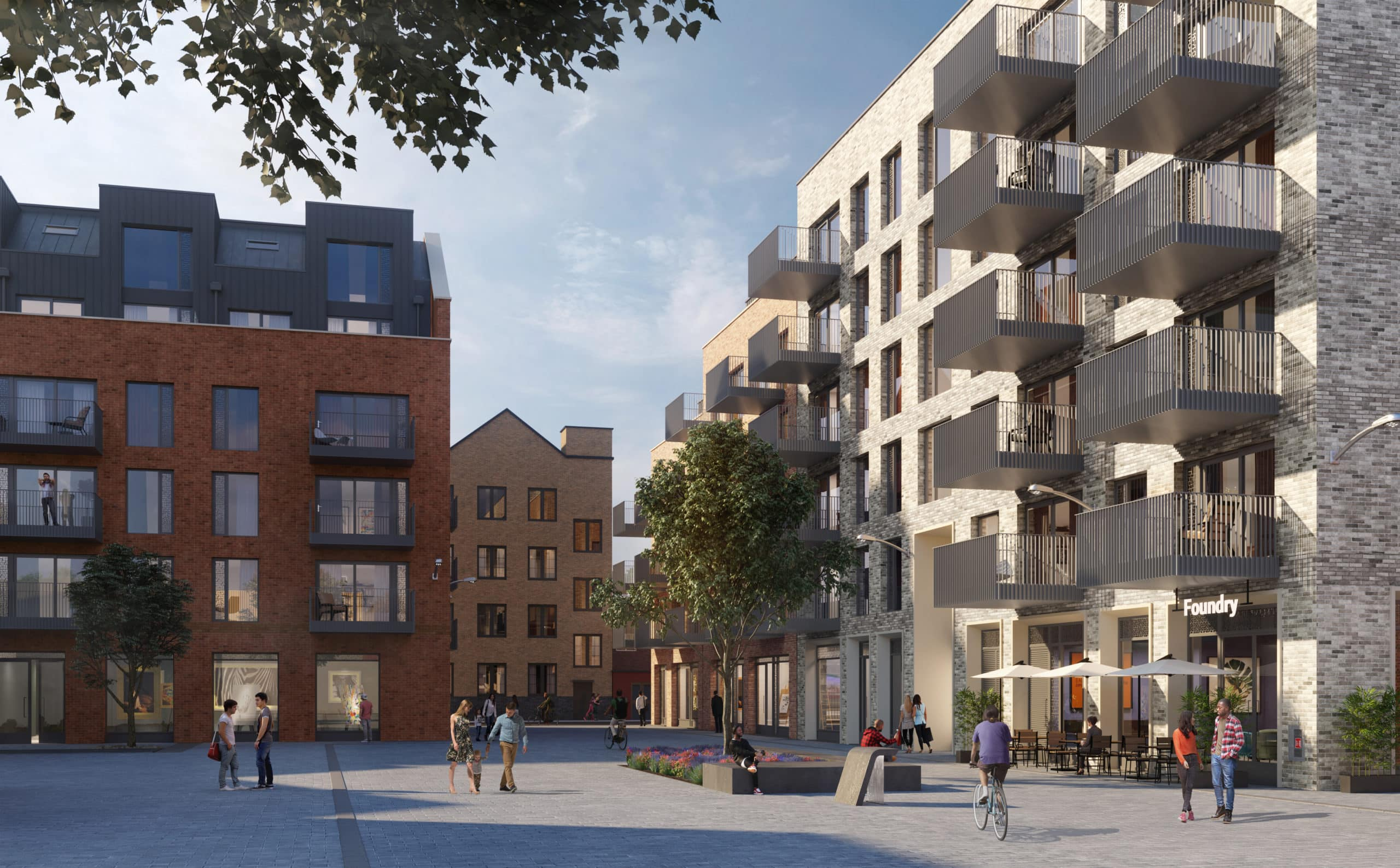 External CGI of Poplar HARCA's Stone Studios - Shared Ownership homes available on Share to Buy