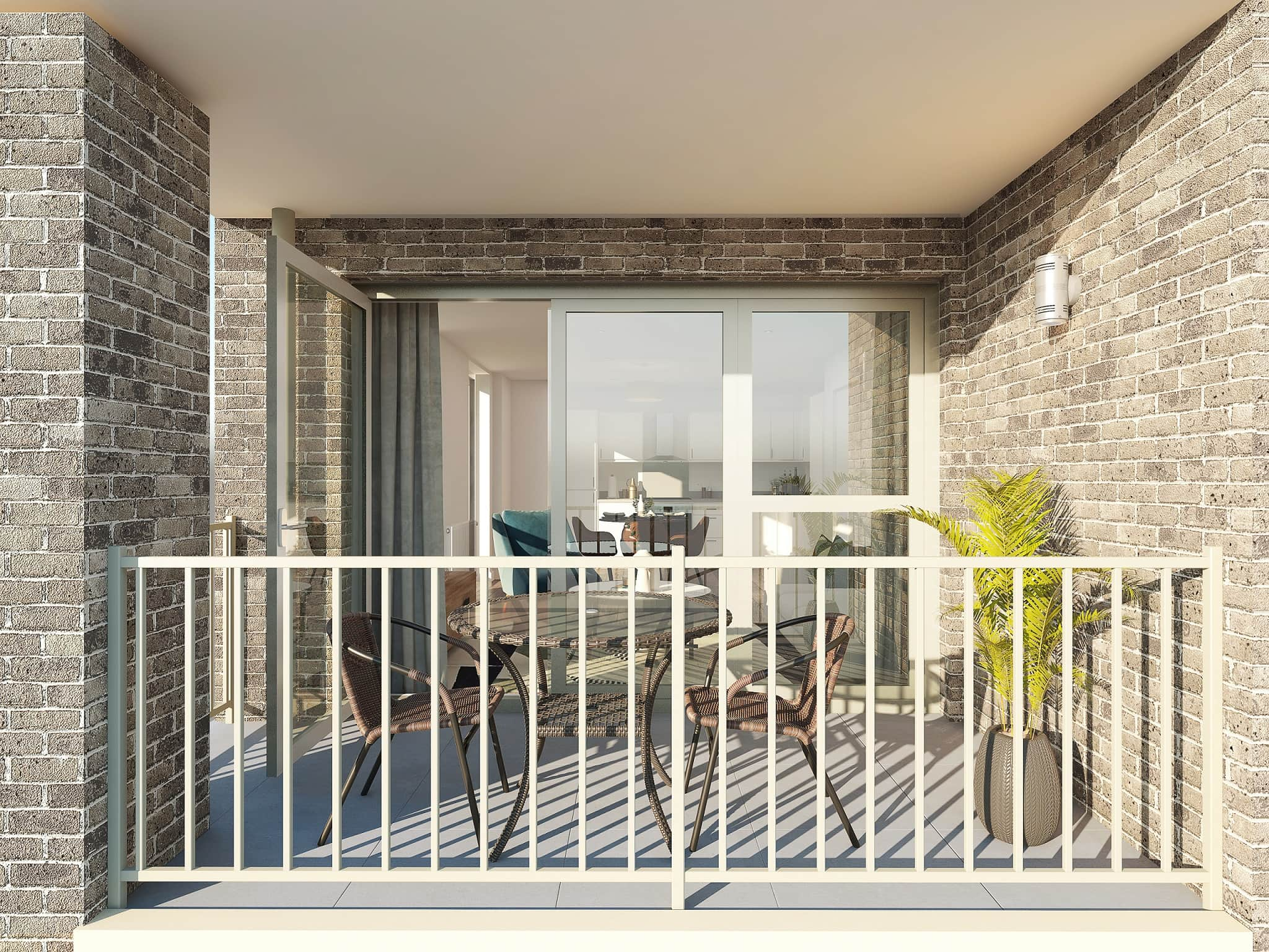 Balcony photography of Catalyst's Newman Place development - Shared Ownership and Help to Buy homes available on Share to Buy