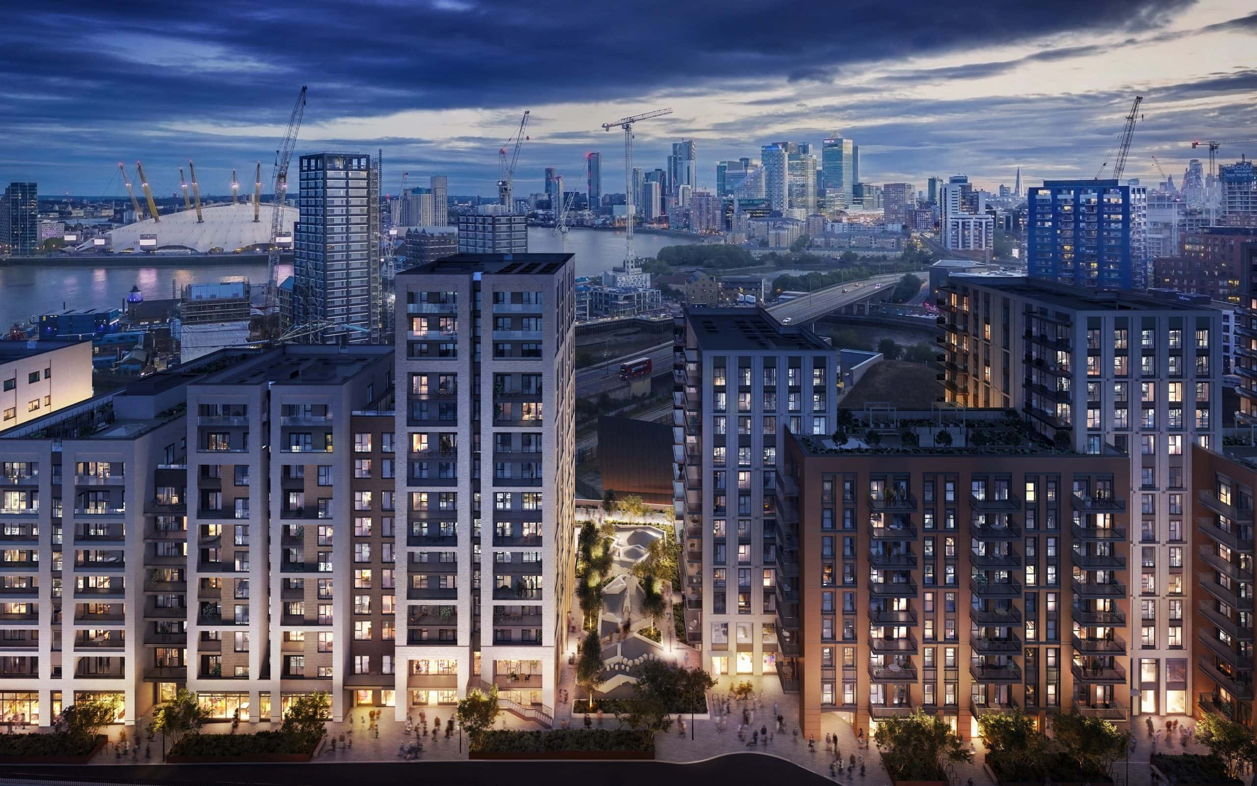 External CGI of L&Q's Brunel Street Works development - Shared Ownership homes available on Share to Buy