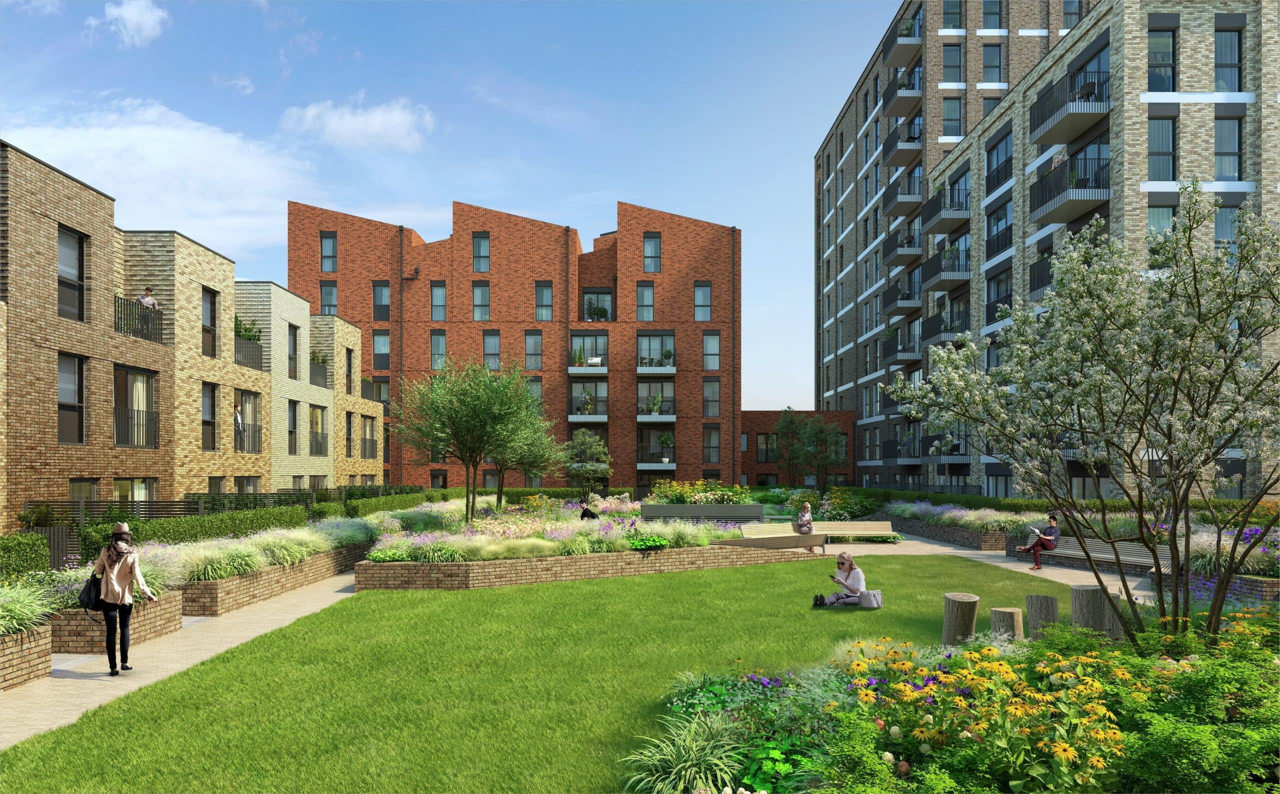 External CGI of L&Q's Huntley Wharf - Shared Ownership homes available on Share to Buy