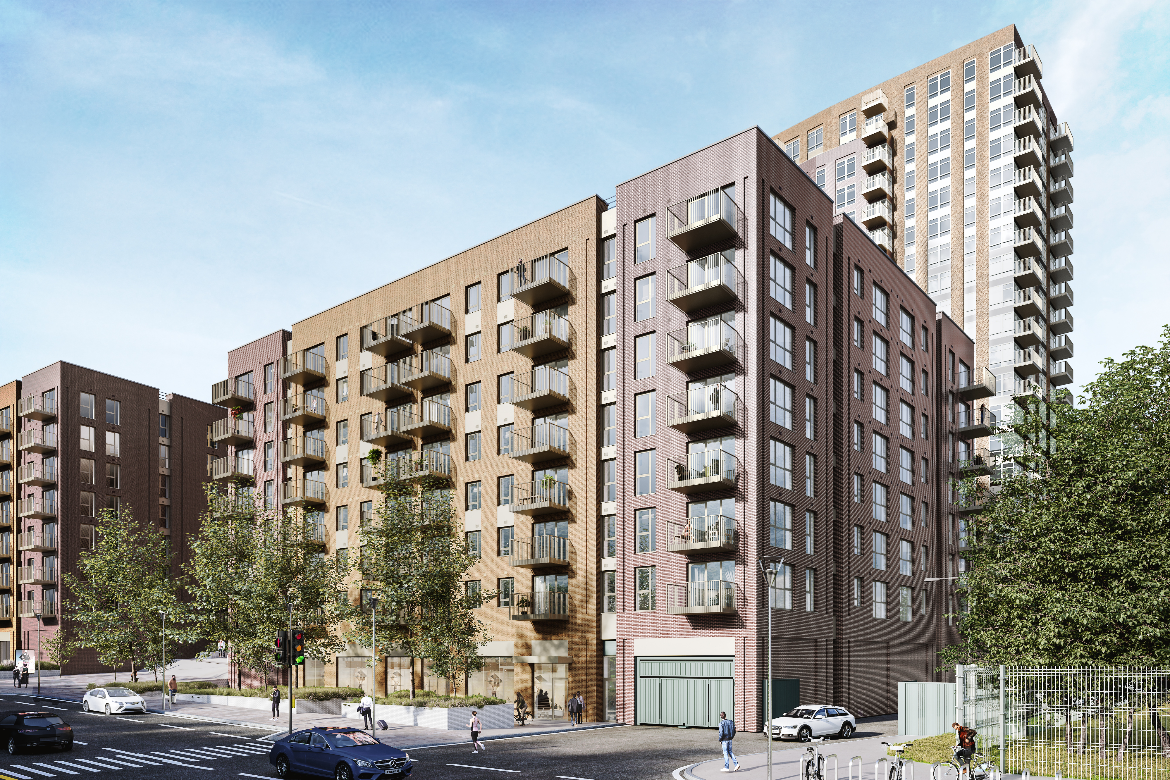 External CGI of SO Resi Greenford - Shared Ownership homes available on Share to Buy