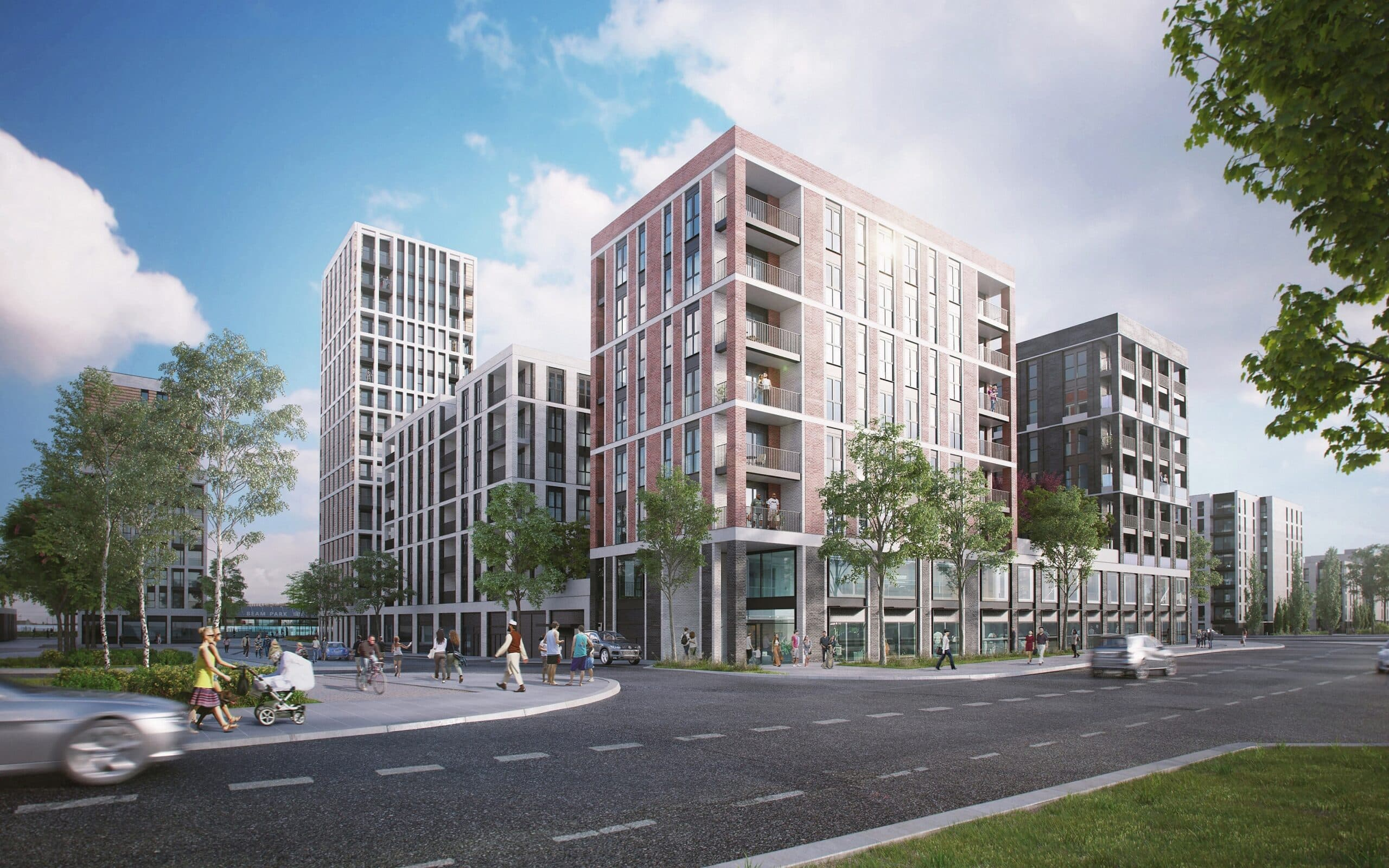 External CGI of L&Q at Beam Park - Shared Ownership homes available on Share to Buy