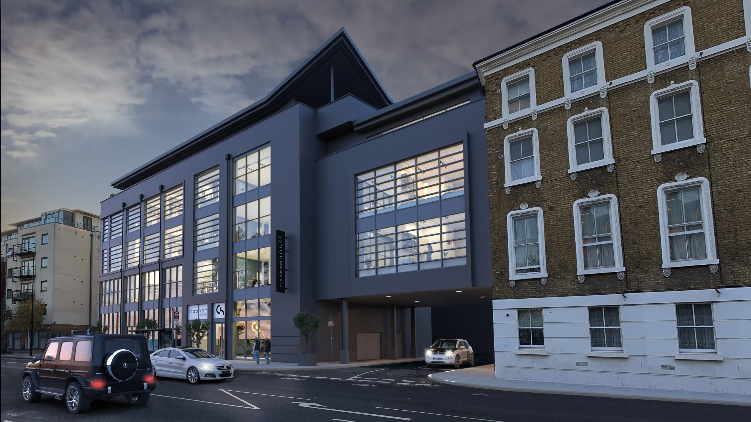 Exterior CGI of Clapham House - Help to Buy homes available through JLL and Savills on Share to Buy
