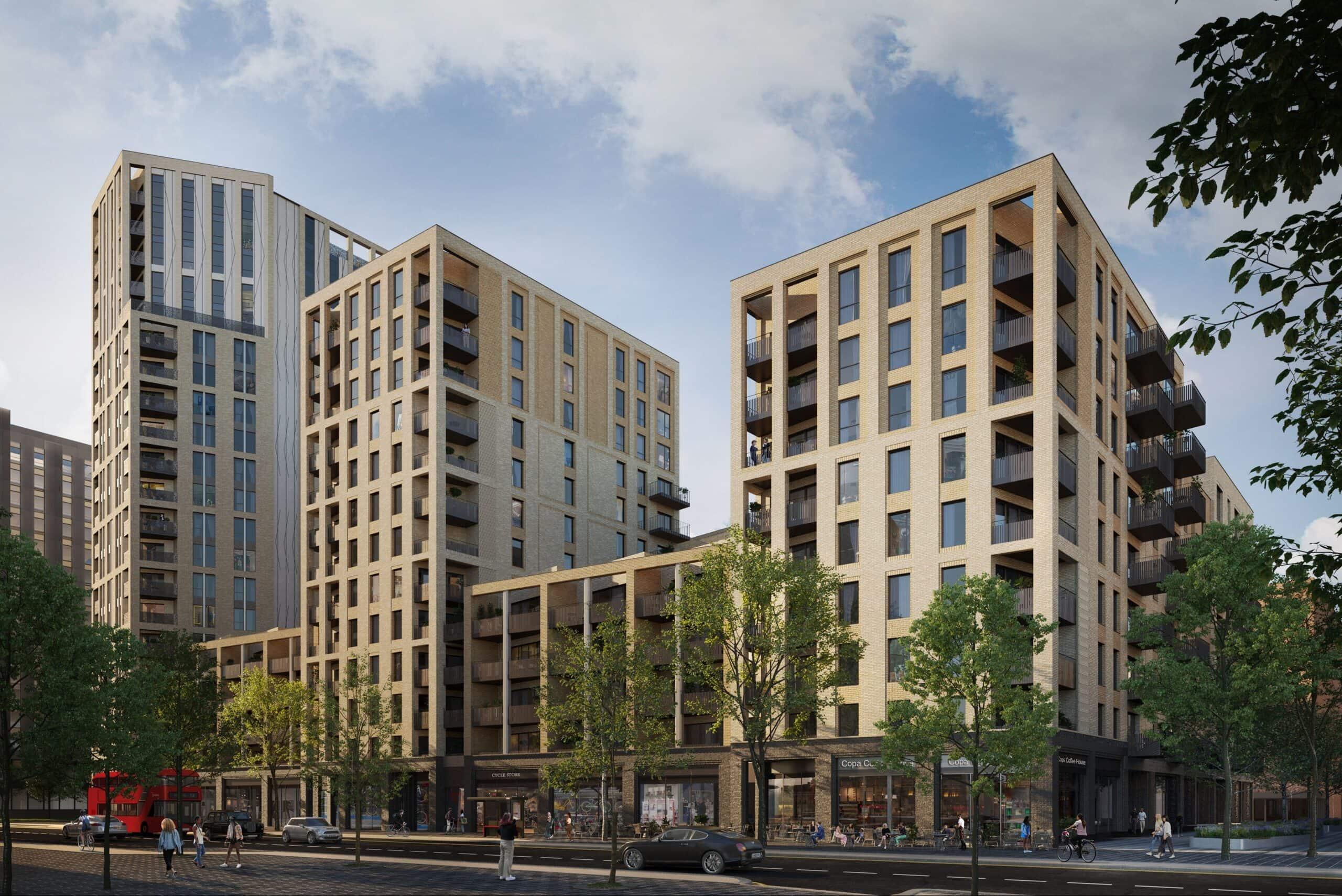 External CGI of L&Q at Blackhorse View - Shared Ownership homes available on Share to Buy